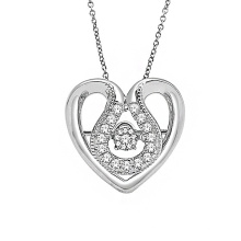 Hot Sales Heart 925 Sterling Silver Micro Setting Pendants Jewelry